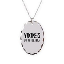Vikings Do It Better Necklace Oval Charm