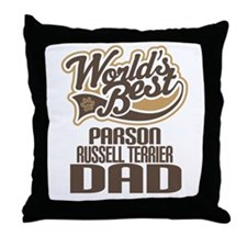 Parson Russell Terrier Dad Throw Pillow