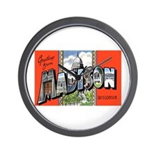 Madison Wisconsin Greetings Wall Clock