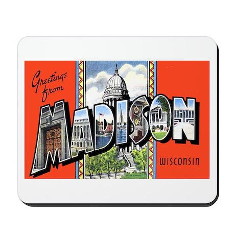 Madison Wisconsin Greetings Mousepad