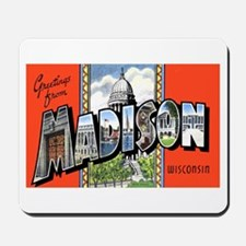 Madison Wisconsin Greetings Mousepad