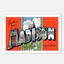 Madison Wisconsin Greetings Postcards (Package of