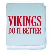 Vikings Do It Better baby blanket