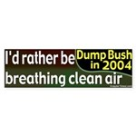 Rather Breathe Clean Air Bumper Sticker