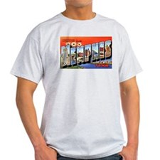 Memphis Tennessee Greetings (Front) Ash Grey T-Shi