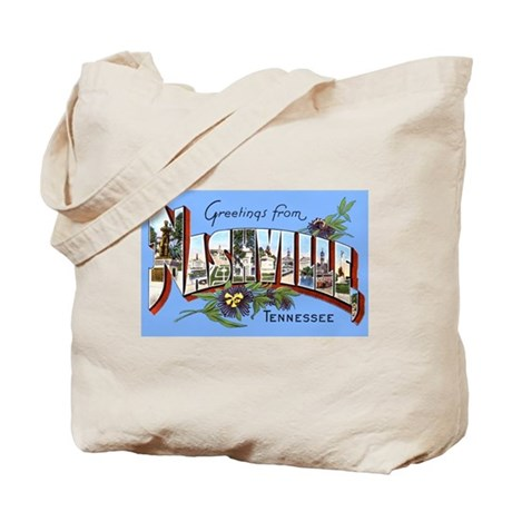 Nashville Tennessee Greetings Tote Bag