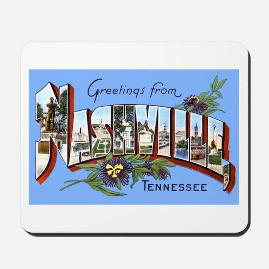 Nashville Tennessee Greetings Mousepad