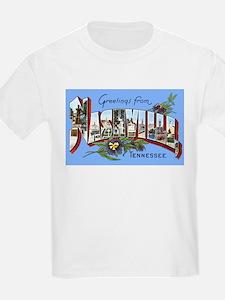 Nashville Tennesee Greetings (Front) Kids T-Shirt