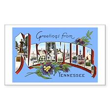 Nashville Tennessee Greetings Sticker (Rectangular
