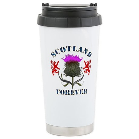 Scotland Forever Thistl Stainless Steel Travel Mug