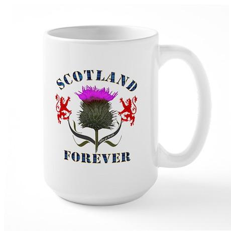 Scotland Forever Thistle Large Mug