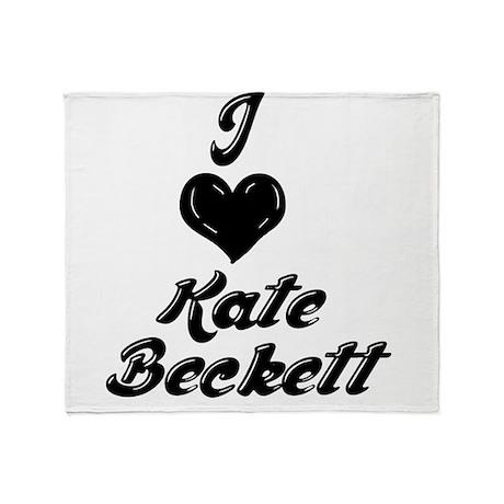 I Heart Kate Beckett Throw Blanket