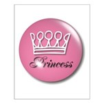 Pink Princess Crown Girly Small Poster