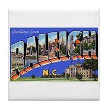 Raleigh North Carolina Greetings Tile Coaster
