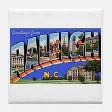 Raleigh North Carolina Greetings Tile Coaster