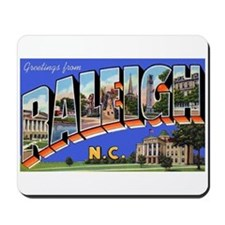 Raleigh North Carolina Greetings Mousepad