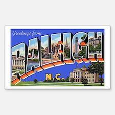 Raleigh North Carolina Greetings Sticker (Rectangu