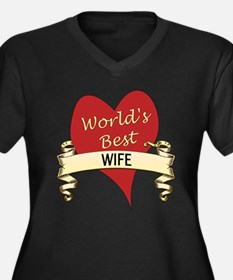 Cute Greatest wife Women's Plus Size V-Neck Dark T-Shirt