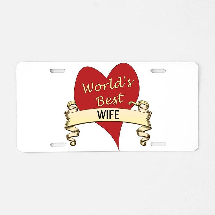 Cute Greatest wife Aluminum License Plate