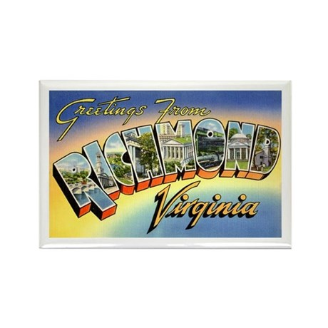 Richmond Virginia Greetings Rectangle Magnet