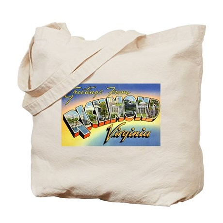 Richmond Virginia Greetings Tote Bag