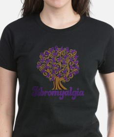 Fibromyalgia Purple Ribbon Tree Tee