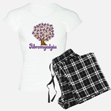 Fibromyalgia Purple Ribbon Tree pajamas