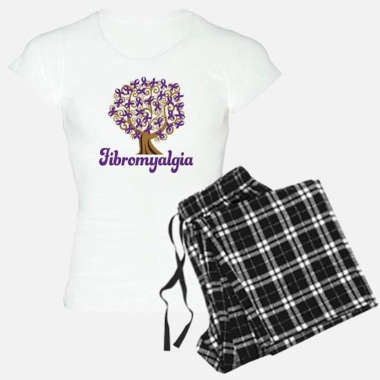 Fibromyalgia Purple Ribbon Tree pajamas