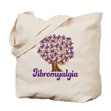 Fibromyalgia Purple Ribbon Tree Tote Bag