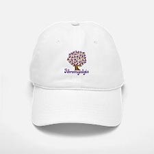 Fibromyalgia Purple Ribbon Tree Baseball Baseball Cap