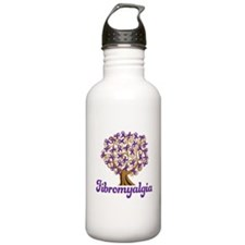 Fibromyalgia Purple Ribbon Tree Water Bottle