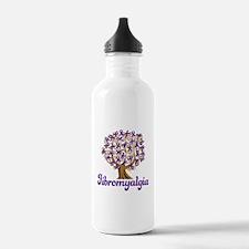Fibromyalgia Purple Ribbon Tree Water Bottle