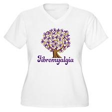 Fibromyalgia Purple Ribbon Tree T-Shirt
