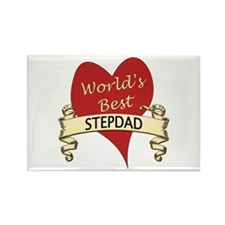 Cute Step dad Rectangle Magnet
