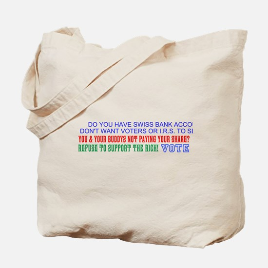 REFUSE TO SUPPORT THE RICH Tote Bag