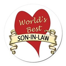 Cute Son in law Round Car Magnet