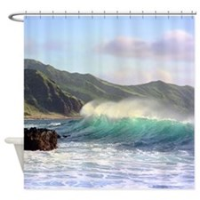 Hawaiian Sunset Surf Tropical Shower Curtain