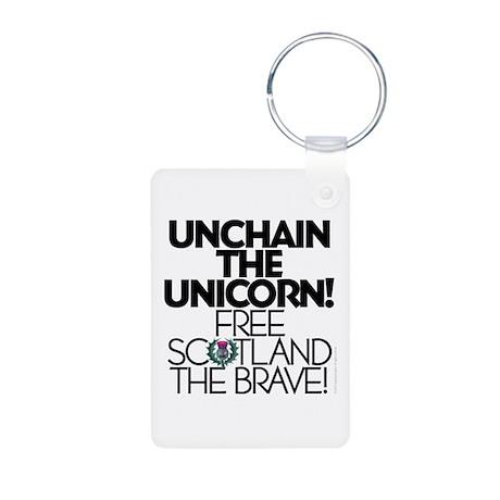 Brave Aluminum Photo Keychain