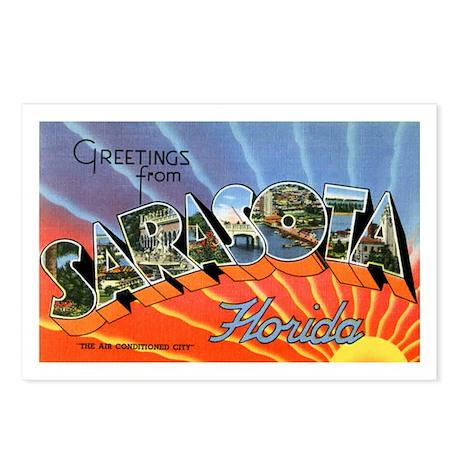 Sarasota Florida Greetings Postcards (Package of 8
