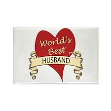 Cute World's greatest husband Rectangle Magnet