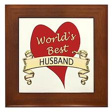 Cute World's greatest husband Framed Tile