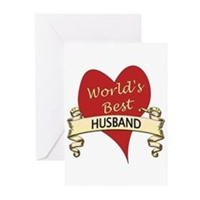Cute World's greatest husband Greeting Cards (Pk of 10)