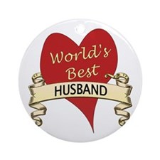 Cute World's greatest husband Ornament (Round)