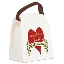Cute Going to be a great grandma again Canvas Lunch Bag