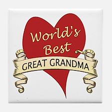 Cute Going to be a great grandma again Tile Coaster