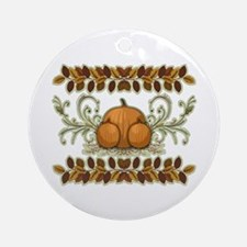 Autumn Bounty Ornament (Round)