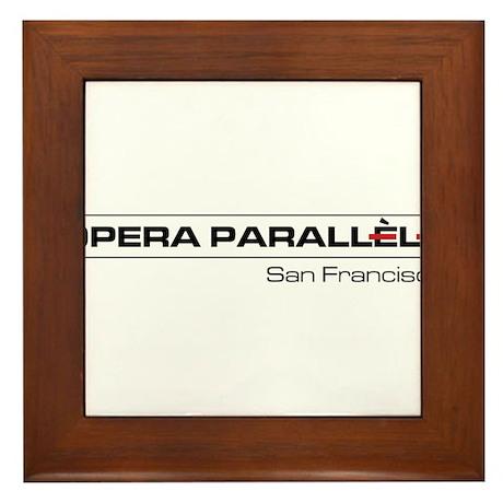 Opera Parallele Logo Framed Tile