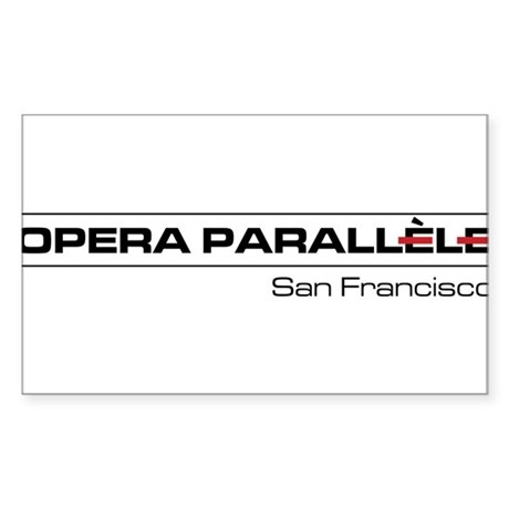 Opera Parallele Logo Sticker (Rectangle)
