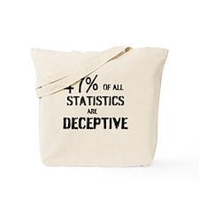 47% OF ALL STATISTICS ARE DECEPTIVE Tote Bag