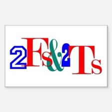 2 Fs & 2 Ts Rectangle Decal